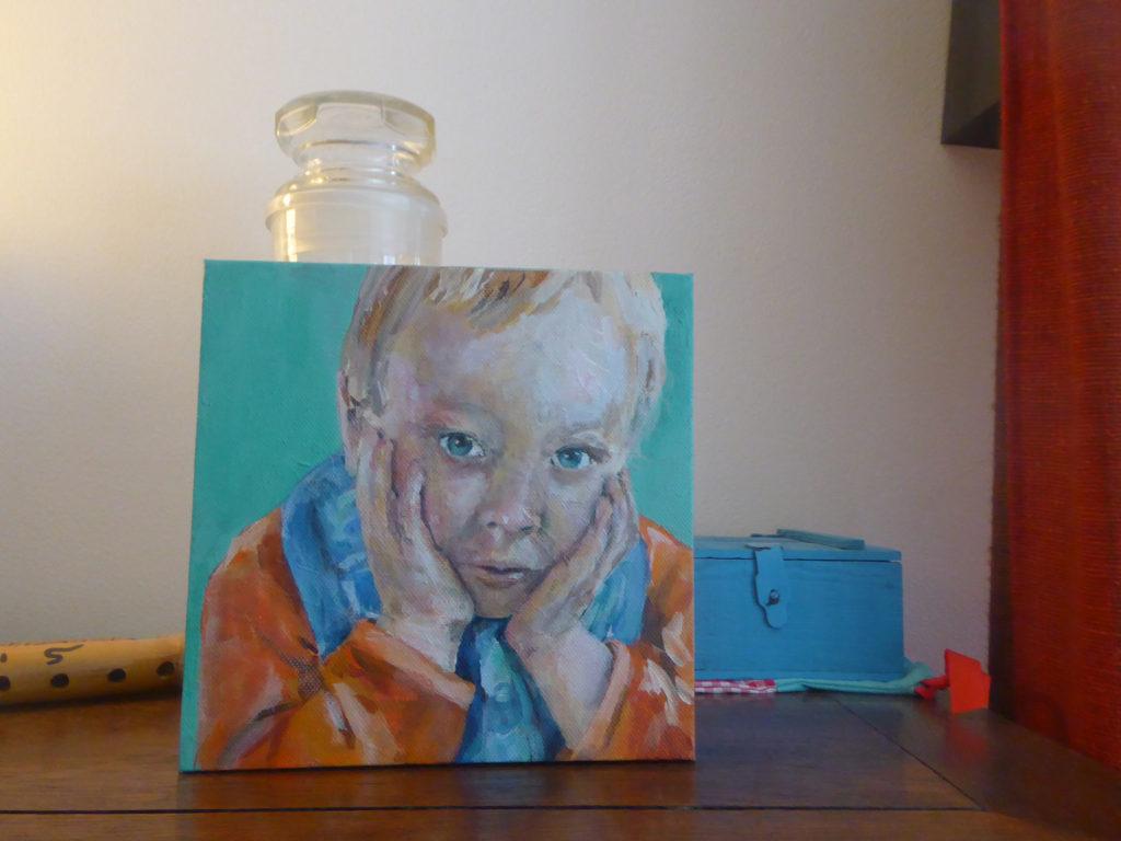 J.Baas-Hazenbosch over het portret van haar kleinzoon Teun
