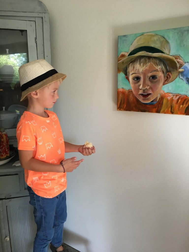 Truus Hazenbosch over het portret van haar kleinzoon