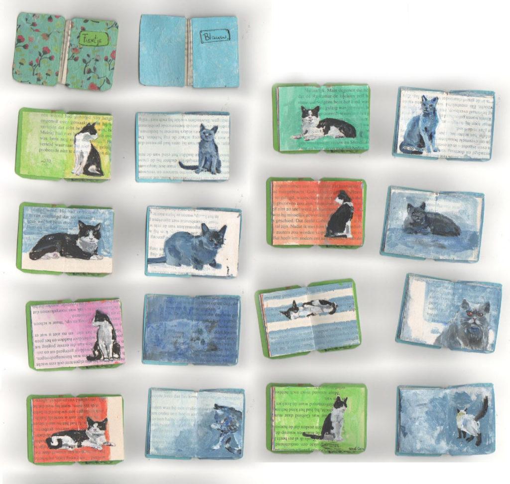 Miniboekjes 'Blauw' en 'Fien'